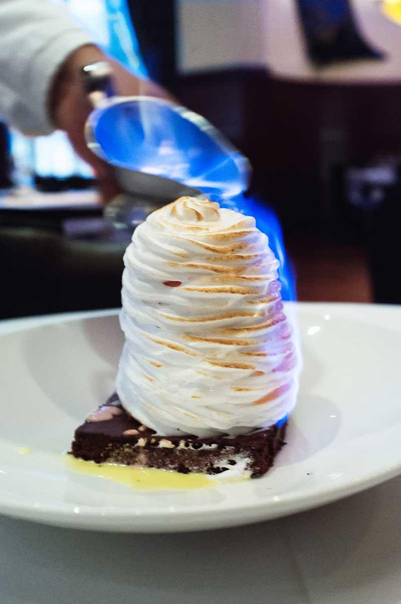 Baked Alaska dessert