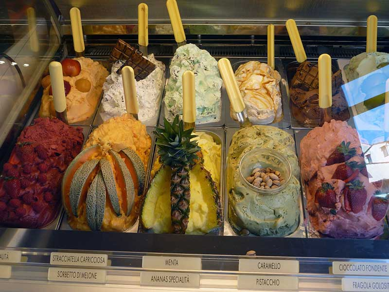 Jose Mier's favorite display of gelato