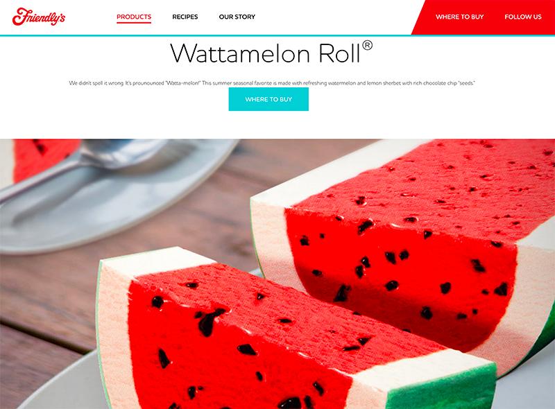 Friendly's website Wattamelon Roll Frozen Jose Mier
