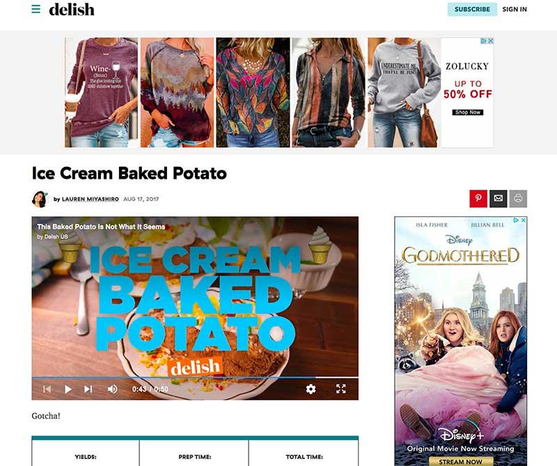 ice cream baked potato jose mier