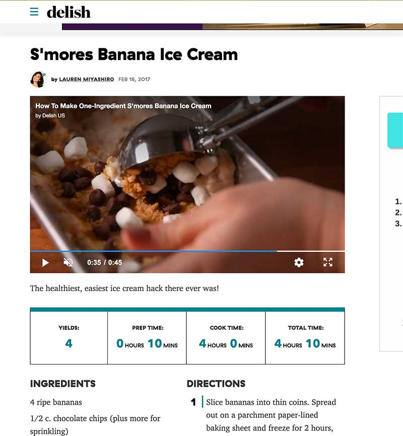 frozen jose mier with delish banana smores recipe