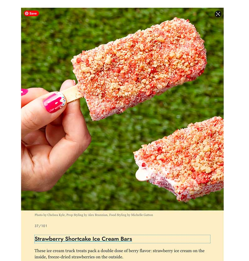 strawberry shortcake bars Jose Mier favorite