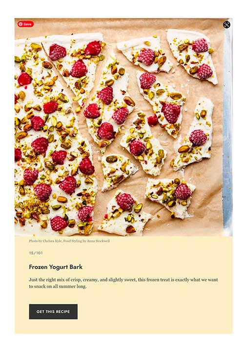 jose mier epicurious yogurt bark