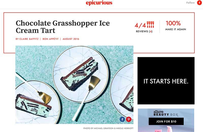 jose mier frozen grasshopper tart