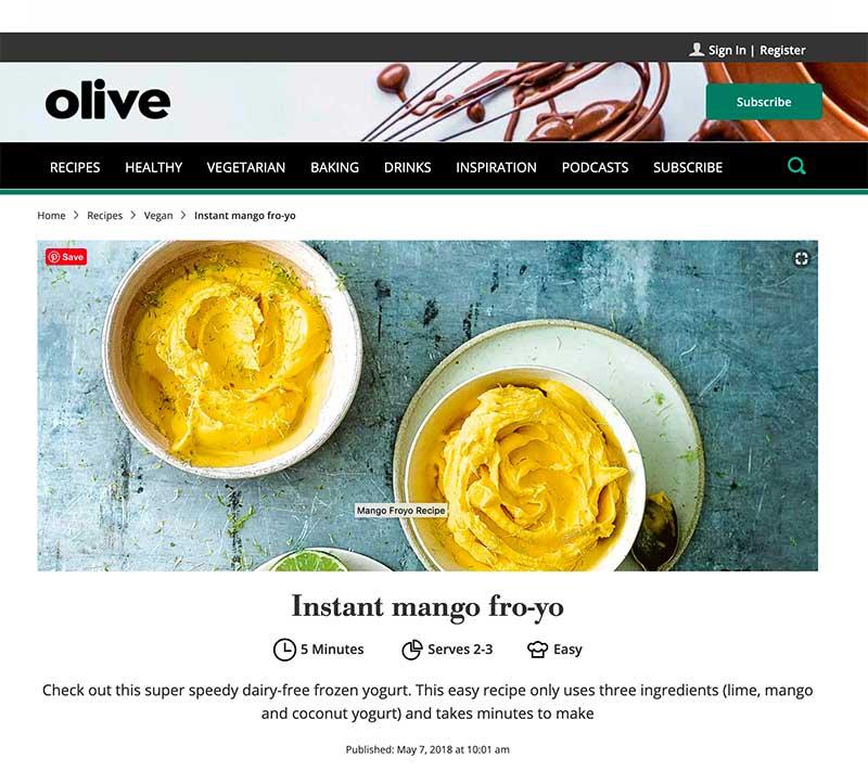 jose mier mango frozen yogurt