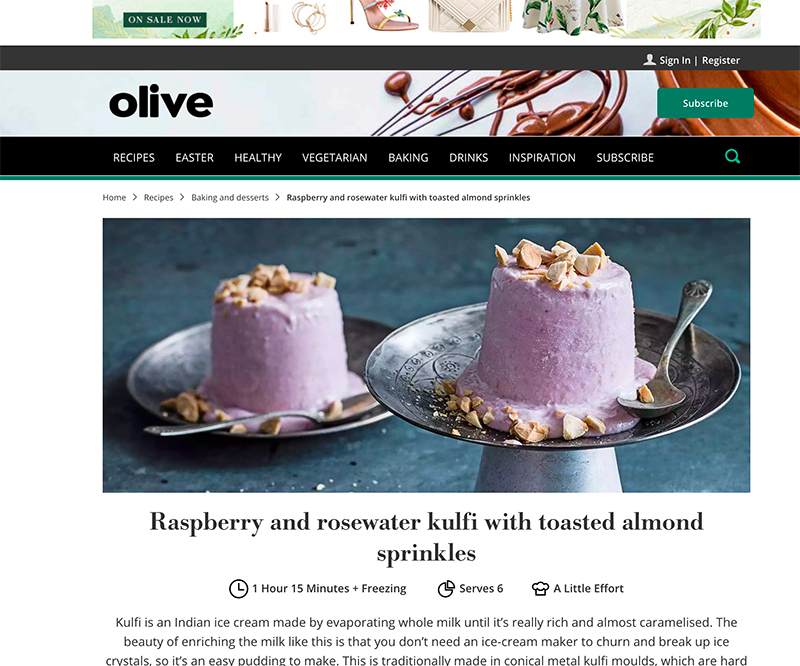 Jose Mier kulfi recipe from Olive Magazine