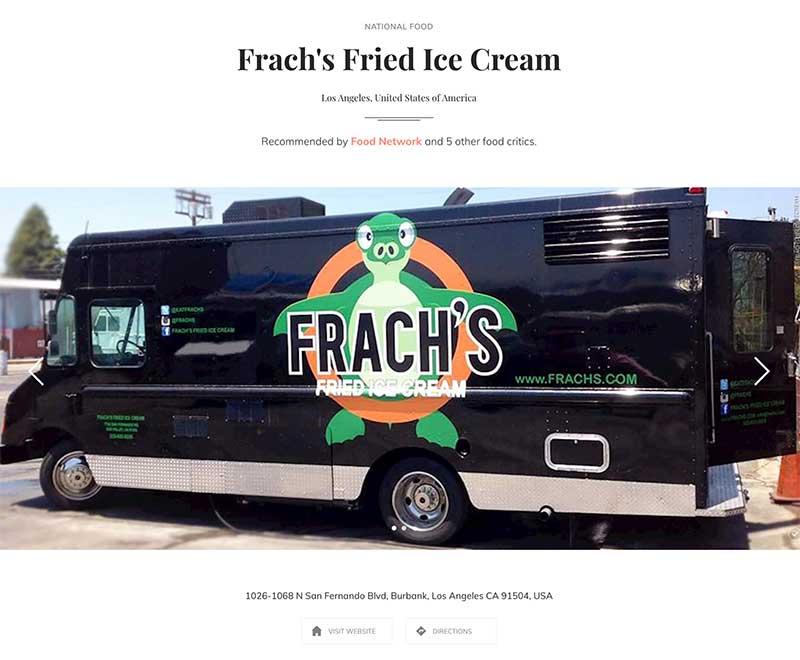 Fried ice cream truck Sun Valley Jose Mier