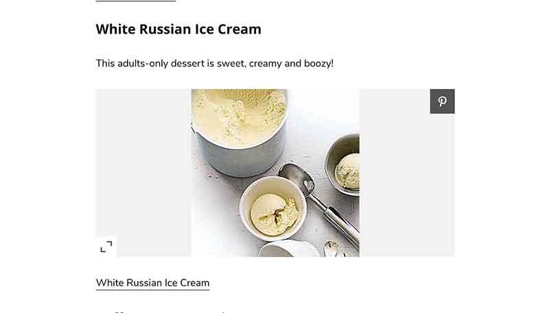 White Russian ice cream Rachel Ray Jose Mier
