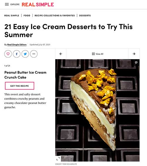 Frozen Jose Mier Real Simple Ice Cream Cake