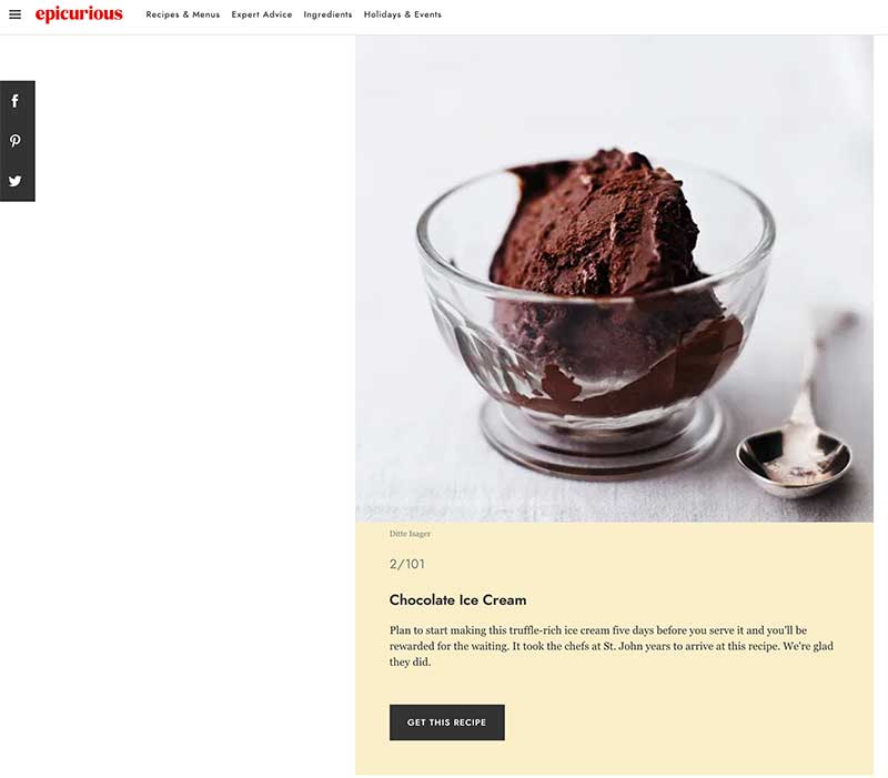 Jose Mier with Epicurious chocolate ice cream recipe